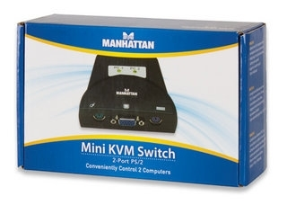 MINI KVM SWITCH 2 PUERTOS PS/2 MANHATTAN