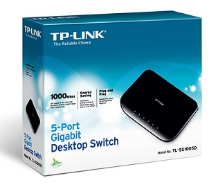 SWITCH 5 PUERTOS GIGABIT TP-LINK SG1005D
